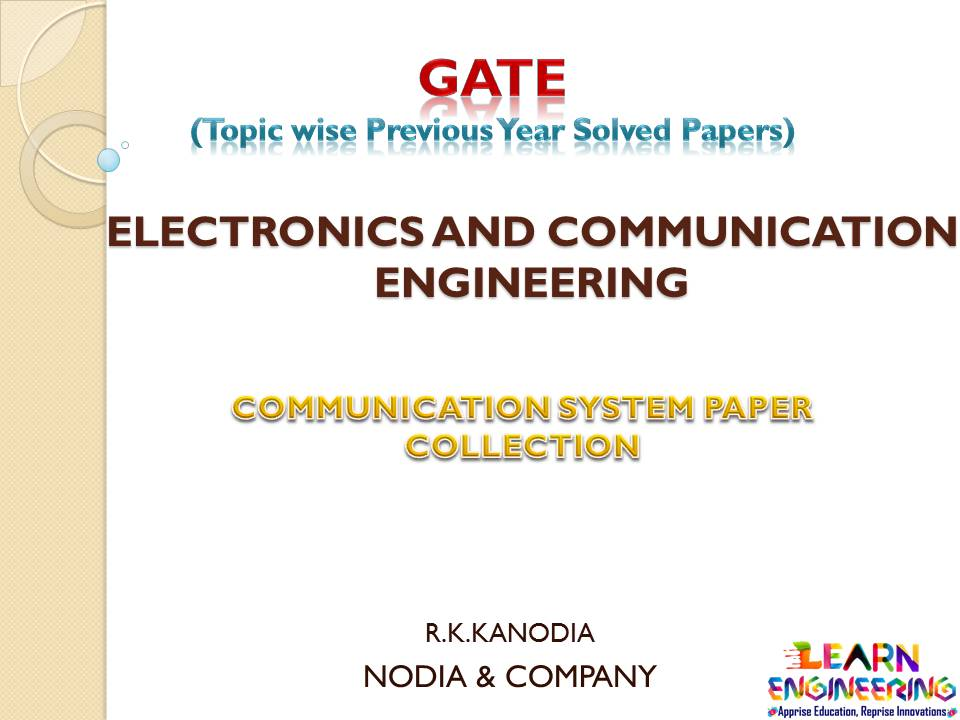 R K Kanodia Communication System Notes