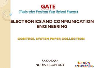R K Kanodia Control System Notes
