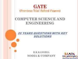 GATE Computer Science and Engineering (CSE) Previous Year Solved Papers