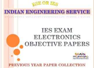 IES Electronics and Telecommunication Engineering Objective Previous Years Papers Collection