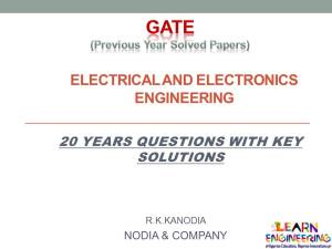 GATE Electrical and Electronics Engineering (EEE) Previous Year Solved Papers