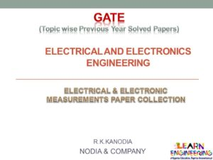R K Kanodia Electrical and Electronics Measurement Notes