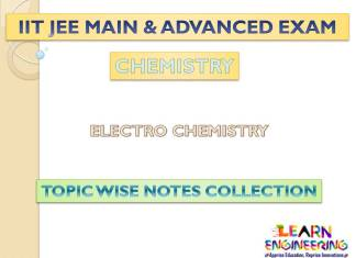 Electrochemistry (Chemistry) Notes for IIT-JEE Exam