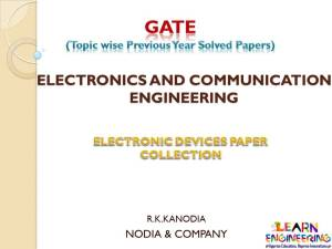 R K Kanodia Electronic Devices Notes