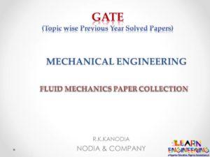 R K Kanodia Fluid Mechanics Notes