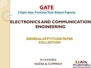 R K Kanodia General Aptitude Notes