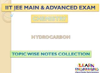 Hydrocarbon (Chemistry) Notes for IIT-JEE Exam