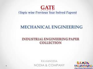 R K Kanodia Industrial Engineering Notes