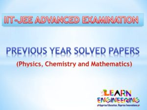 JEE Advanced Previous Year Solved Papers