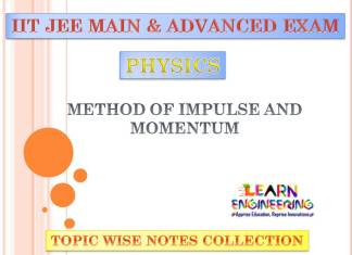 Method of Impulse and Momentum (Physics) Notes for IIT-JEE Exam