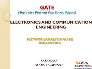 R K Kanodia Network Analysis Notes