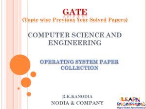 R K Kanodia Operating System Notes
