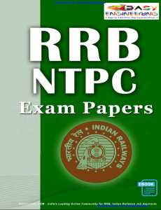 RRB Non Technical Previous Year Exam Paper By RRB