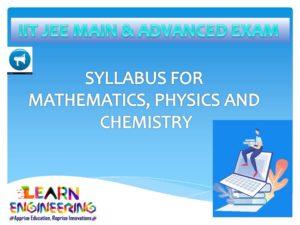 JEE Main & Advanced Exams Syllabus