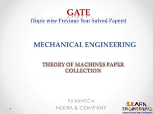 R K Kanodia Theory of Machines Notes