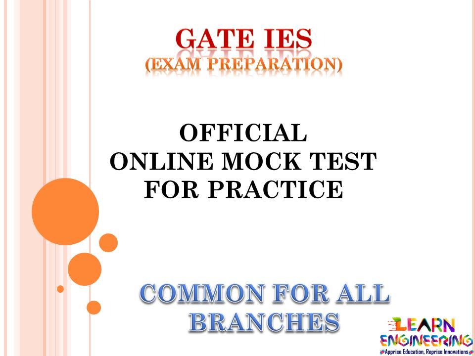 Mock Test For GATE
