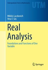 Real Analysis By Miklos Laczkovich