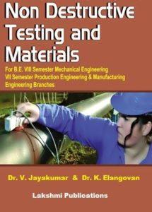 ME8097 Non Destructive Testing and Evaluation
