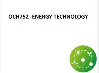 OCH752 Energy Technology
