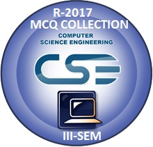 Computer Science Engineering R2017 Third Semester Subjects MCQ