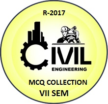 Civil Engineering R2017 Seventh Semester Subjects MCQ