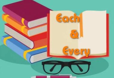 EACH & EVERY | English Grammar Lesson
