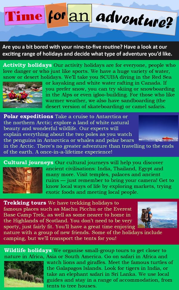 Adventure Travel Learnenglish Teens - British Council