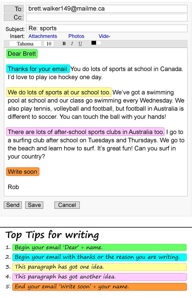 An email about sports  LearnEnglish Teens - British Council
