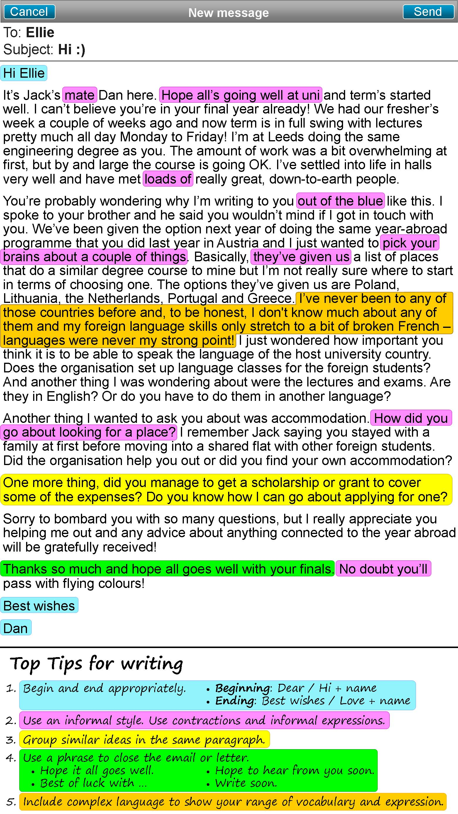 An Informal Email Or Letter Learnenglish Teens