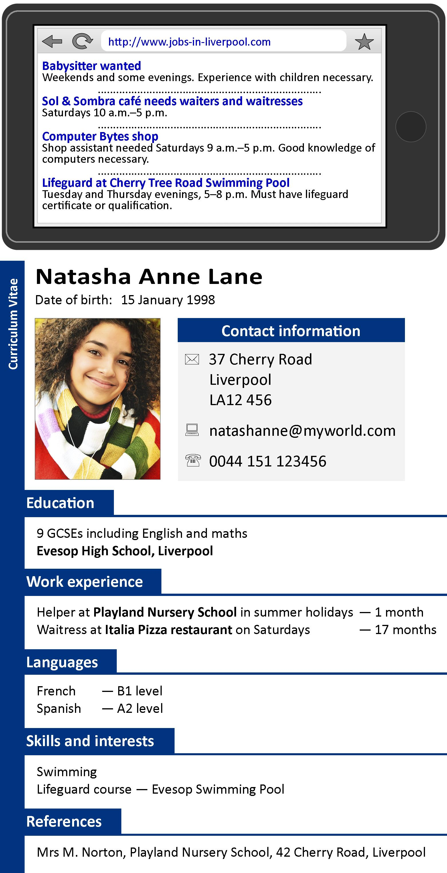 A CV LearnEnglish Teens British Council