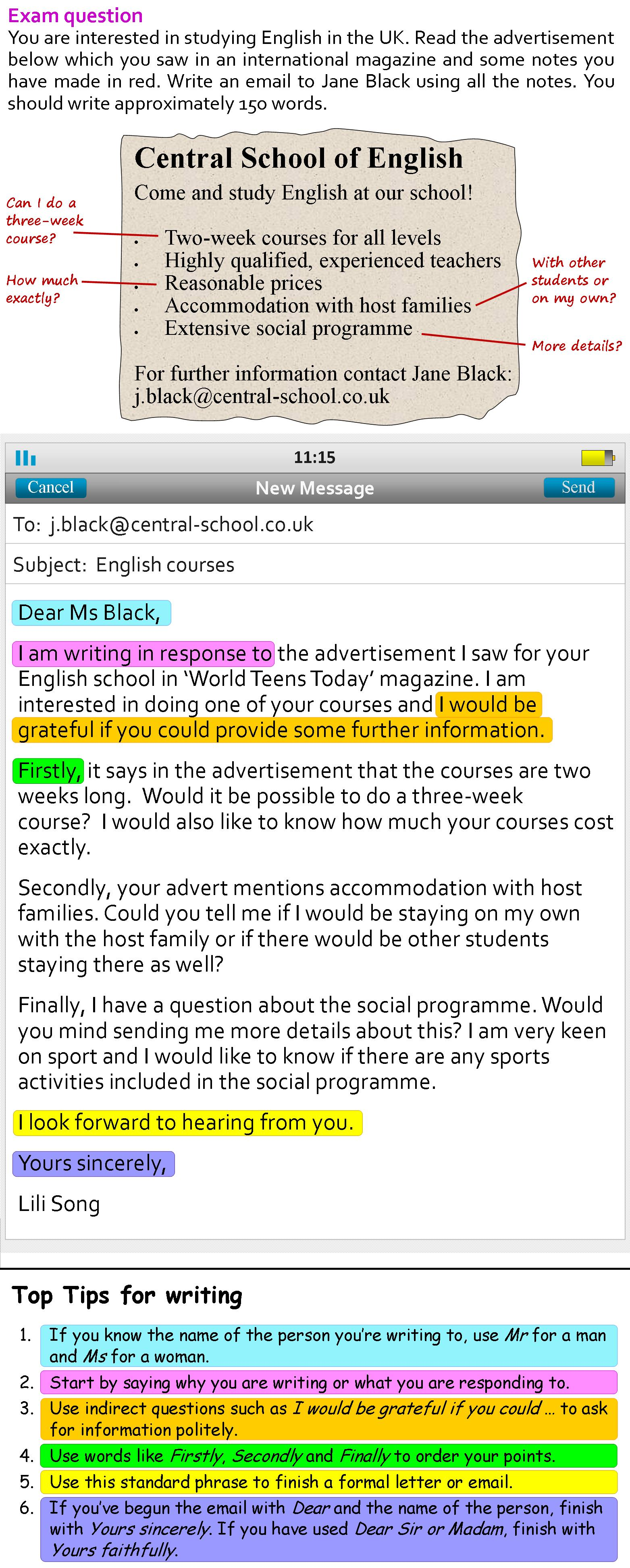 hight resolution of email writing grammar please see below mail