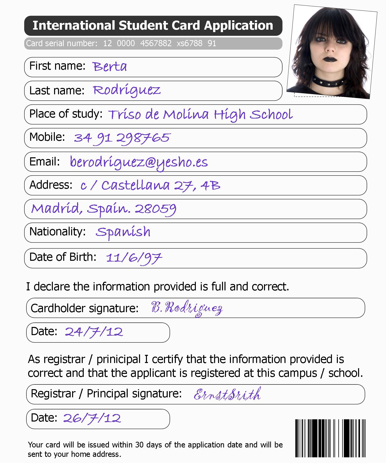 Applying For A Student Card
