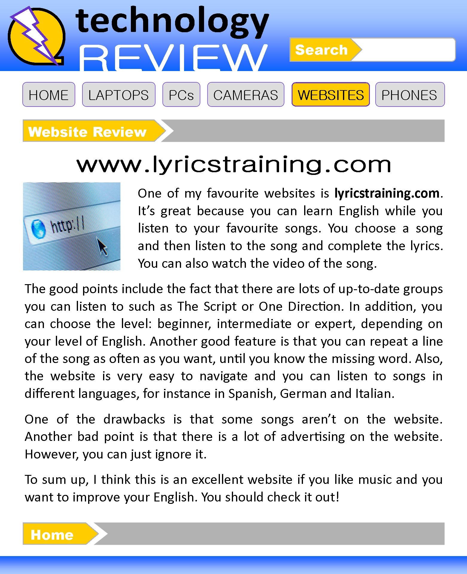 A Website Review Learnenglish Teens