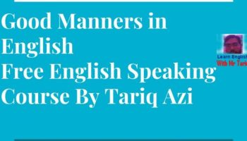 Good Manners in English Free English Speaking Course