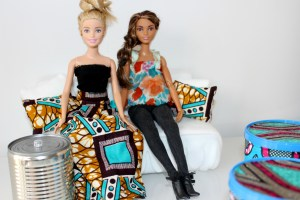 African Print-Barbies, DIY, Learn English With Africa, September 2017