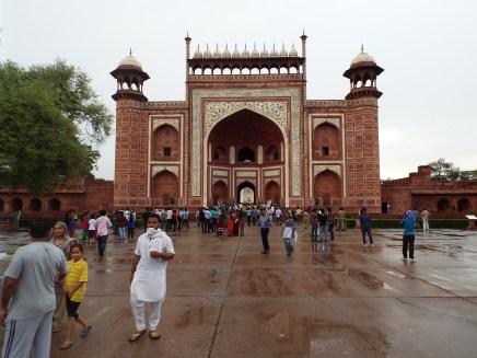 The gates of the Taj Mahal