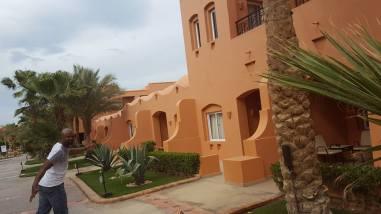 On the grounds of JAZ Makadi Oasis Resort in Hurghada