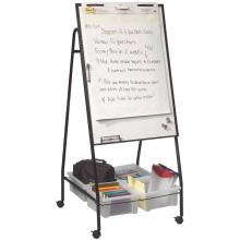 Rolling Whiteboard Organizer with Storage Tubs  Learner
