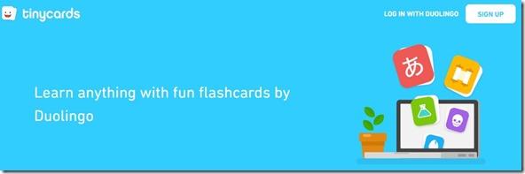 tinycards pour apprendre et mémoriser facilement