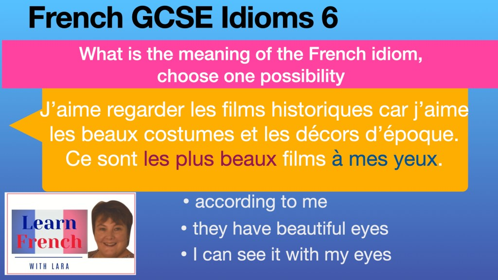 French GCSE idiom N°6