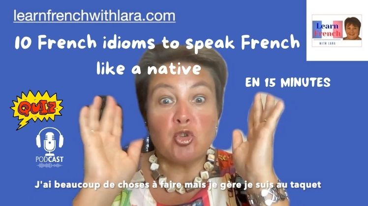 French idioms and their meanings