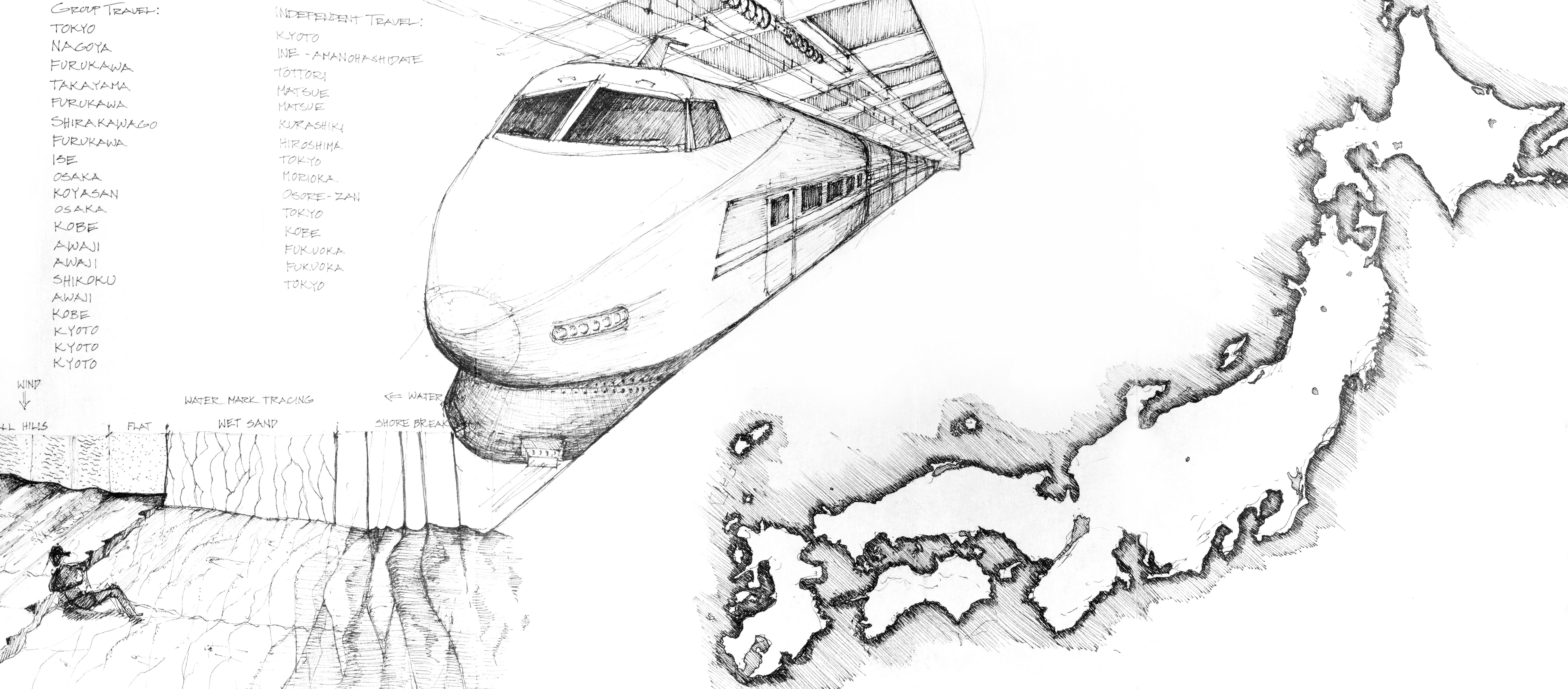 Bullet train maglev technology in Japan with the