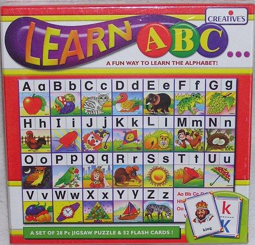 Abc Alphabet Jigsaw Puzzle And Flash Cards  Learn Heaps