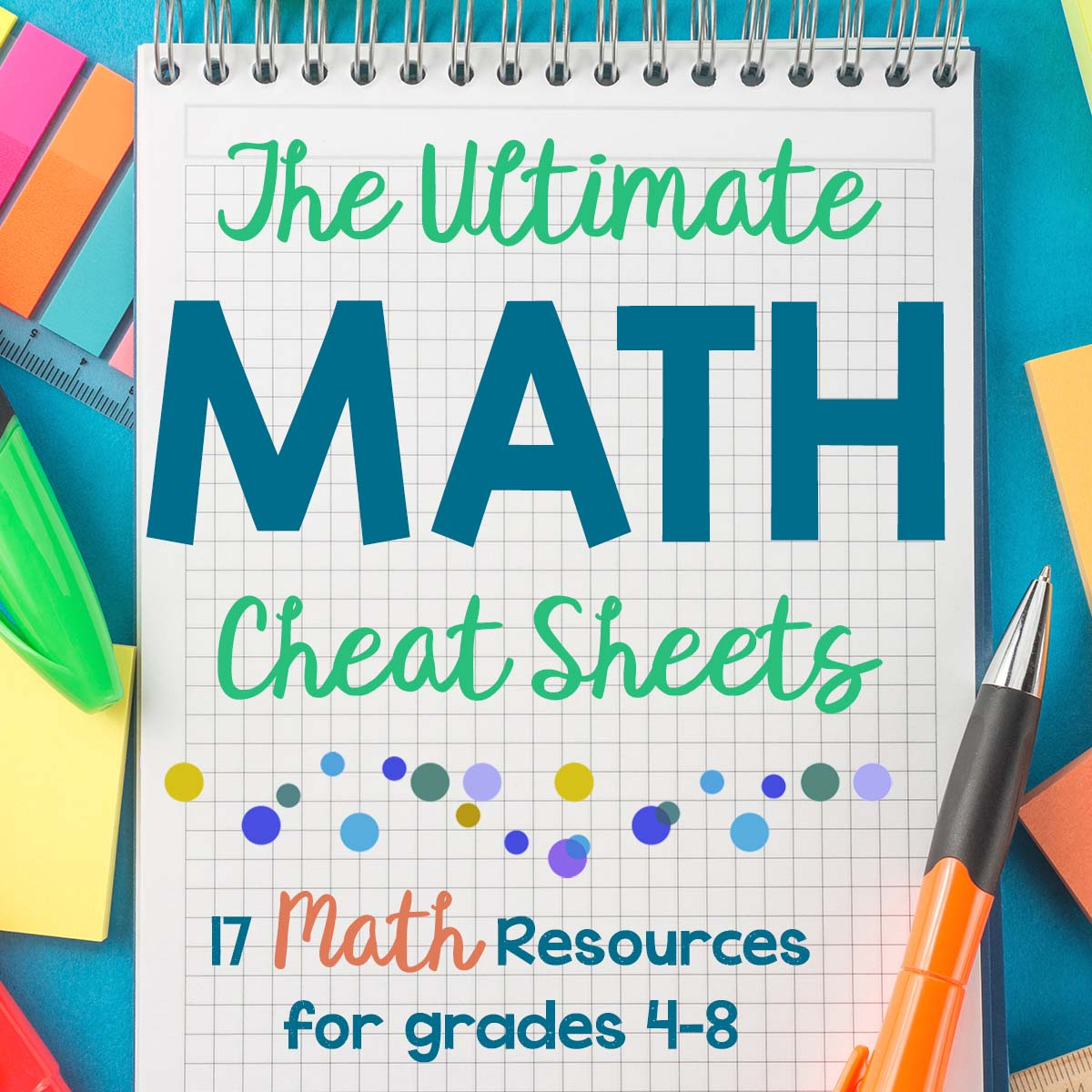 Math Cheat Sheet Free Homeschool Math Resource For Grades 4 8