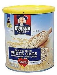 Quaker Quick Cooking White Oats 500g Tin