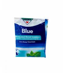 Vicks blue medicated throat lozenges pack