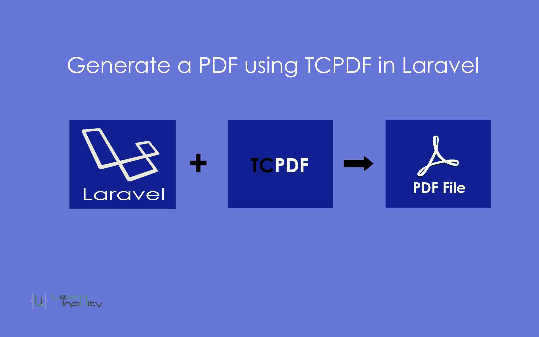 generate a pdf using tcpdf in laravel learn infinity