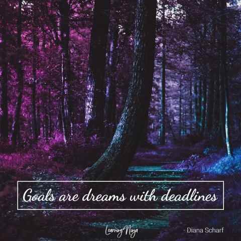 Goals are dreams with deadlines - Diana Scharf
