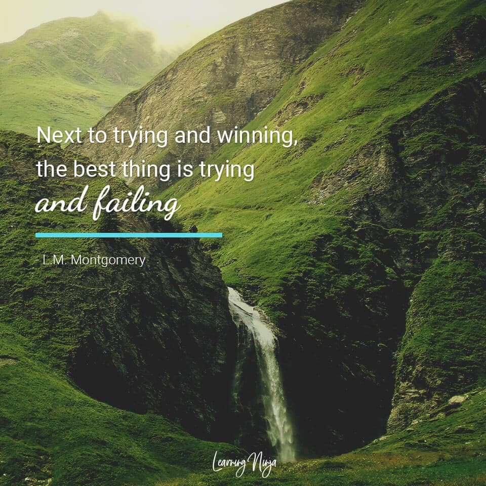 Next to trying and winning the best thing is trying and failing - L.M. Montgomery