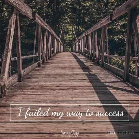 Mindset Ninja: I failed my way o success - Thomas Edison